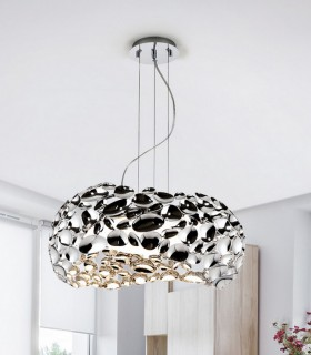 Lámpara 5 luces NARISA  47cm cromo - Schuller 266284