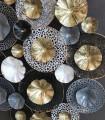 Detalle Adorno deco pared metal Multicolor 74cm