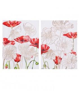 Conjunto 2 Cuadros flores