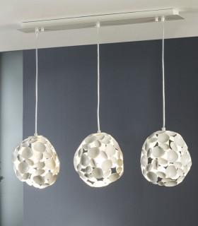 Lámpara 3 luces NARISA blanco - Schuller