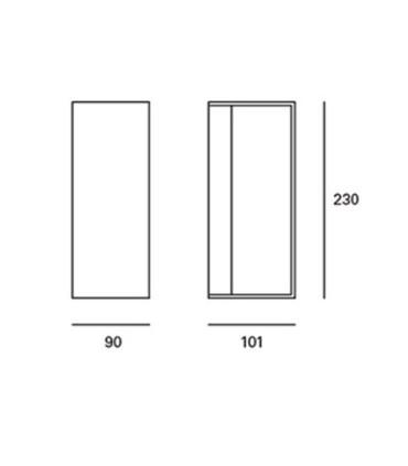Medidas: Aplique para exterior gris oscuro 23cm E-27