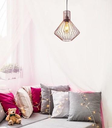 Lámpara jaula MISTRAL cobre