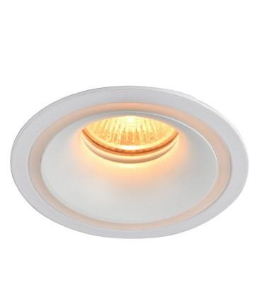 Aro foco empotrable ONEO redondo blanco GU10 Iluminado