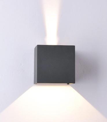 Aplique Exterior Davos 6520 cubo gris oscuro de Mantra