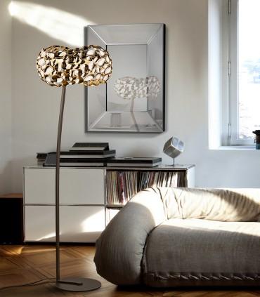Pie salón 5 luces NARISA oro rosa - Schuller 266616N