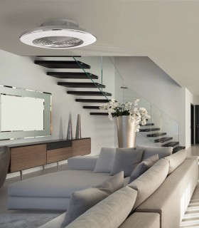 Imagen de ambiente: Ventilador de techo Alisio Mantra gris DC con Mando 6706