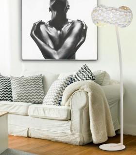 Pie salon 5 luces NARISA blanco - Schuller