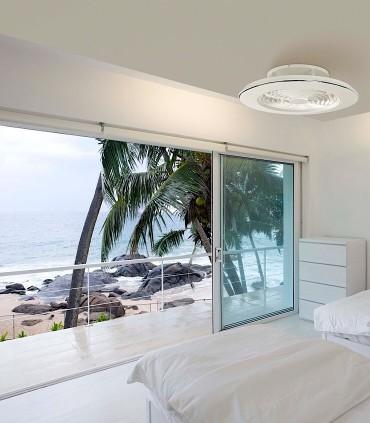 Imagen de ambiente Ventilador de techo Alisio Mantra blanco DC con Mando 6705