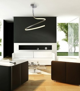 Lámpara de techo NUR Led 30W Simple plata Mantra