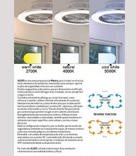 Características Ventilador de techo Alisio Mantra blanco DC con Mando 6705