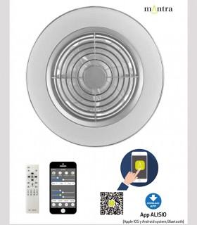 Manejo Ventilador de techo Alisio Mantra blanco DC con Mando 6705