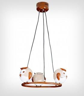 Lámpara techo infantil OWL 3 luces Kelektron
