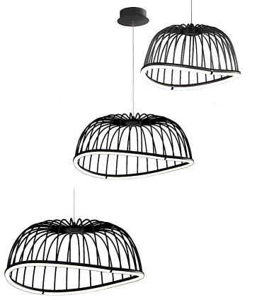 Tamaños Lámparas Celeste de Mantra Iluminación en negro
