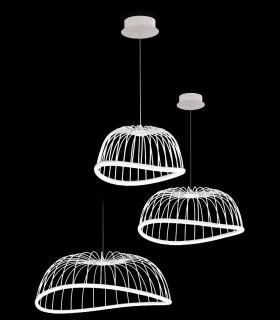 Tamaños Lámparas Celeste de Mantra Iluminación en blanco