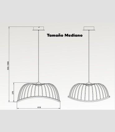 Medidas lámpara Celeste Mantra nediana de 30W