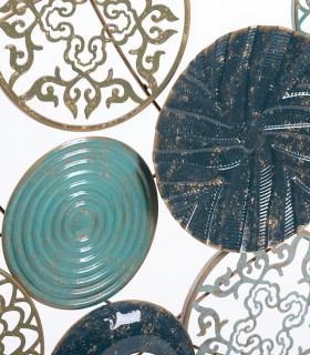 Adorno decoración para pared cuadro metal 135x69cm