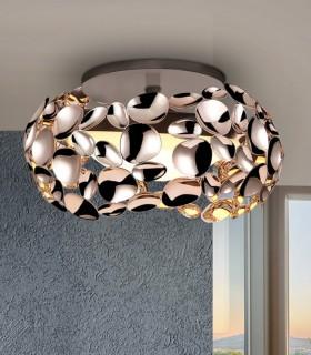 Plafón 3 luces NARISA 32cm 266973 oro rosa - Schuller