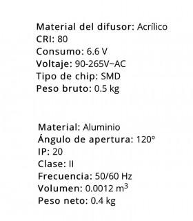 Características Plafón led cuadrado 30W 4000K 2400lm