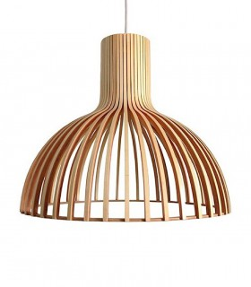 Lámpara colgante Savoy madera bambú 46cm 187092