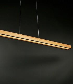 Lámpara minimalista Taveda  madera 120cm 32W 2600lm