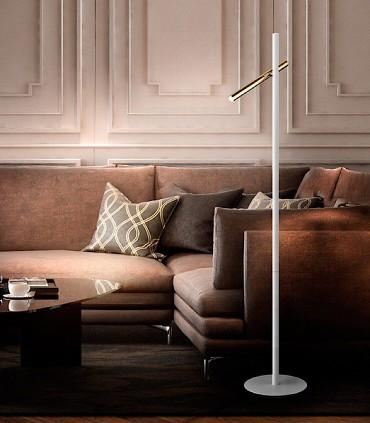 Pie de salón VARAS oro blanco 2 luces - Schuller 373614