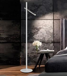 Pie de salón VARAS cromo blanco 2 luces - Schuller
