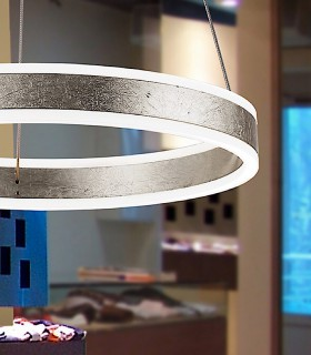 Lampara led HELIA plata 50 cm. - Schuller