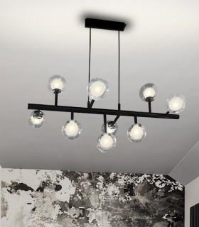 Lámpara 9 L ALTAIS negro cromo -Schuller