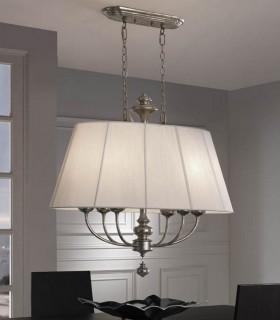 Lámpara 6 luces oval ARTEMIS - Schuller