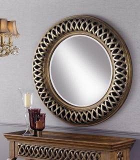 Espejo CLASSIC redondo plata y oro - Schuller