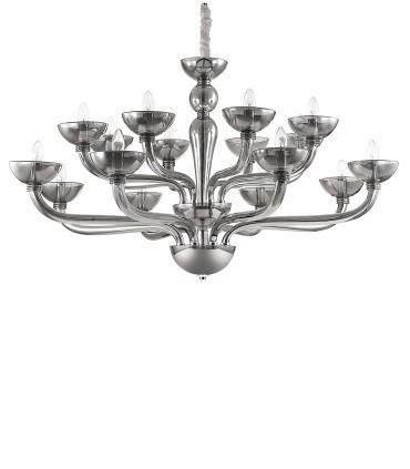 Lámpara Grande Casanova 16 luces Fume Ø120cm Ideal Lux