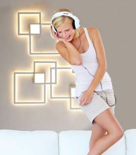 Imagen de ambiente Plafón Aplique Mural 6564 blanco 48W Mantra