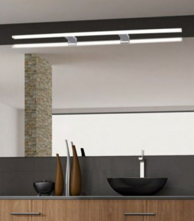 Aplique baño led NADIA 18W IP44  80cm cromo