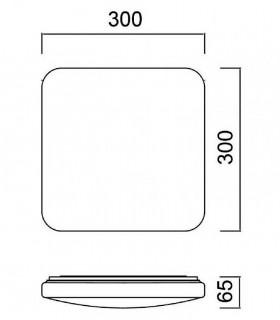 Dimensiones Plafón de techo Quatro II LED 30w de Mantra Iluminación