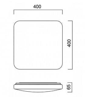 Dimensiones. Plafón de techo Quatro II LED 45w de Mantra Iluminación