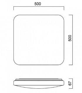 Medidas. Plafón de techo Quatro II LED 60w de Mantra Iluminación
