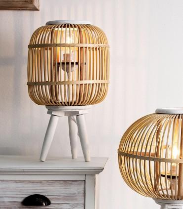 Sobremesa Finlandia trípode madera de bambú y haya