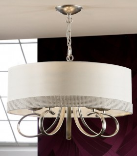 Lámpara ADELA plata 5 luces - Schuller