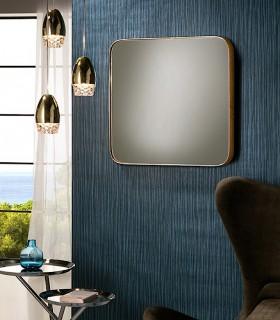 Espejo ORIO cuadrado 51x51 oro - Schuller