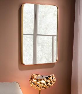 Espejo ORIO rectangular 61x81 cm oro - Schuller