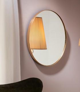 Espejo ORIO oval 51x61 oro - Schuller