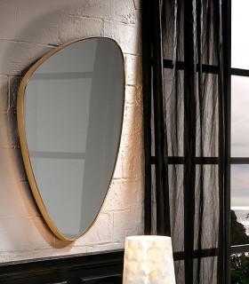 Espejo ORIO triangular oro 84x55 - Schuller.