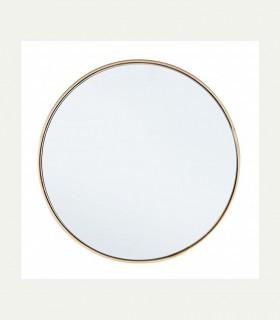 Espejo con marco ORO 40 cm.