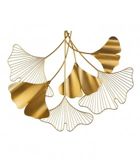 Precioso adorno de metal para decoración pared ORO 83x67