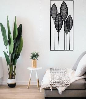 Adorno de pared decoración vertical negro 61x135