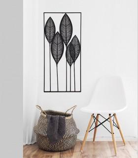 Adorno de metal para decoración de pared color negro 61x135