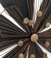 Adorno pared 46x6x50 cm negro-oro