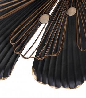 Detalle Adorno pared metal peq. 37X4X42 negro-oro