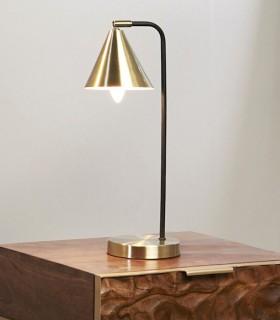 Lámpara de sobremesa VIV oro-negro orientable