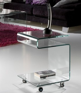 Mesa auxiliar GLASS transparente - Schuller